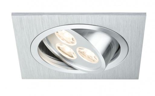 Paulmann Premium Einbauleuchte Aria eckig schwenkbar LED 1x3W 350mA 92x92mm Alu gebürstet/Chr.matt