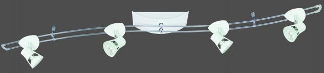 Paulmann Schienensystem Hip Teja 150 4x35W GU5, 3 Weiß 230/12V 150VA Metall