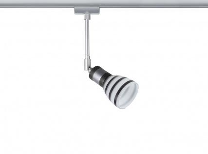 Paulmann URail Schienensystem Light&Easy Spot Titurel 1x42W G9 Chrom m/Opal/Sz 230V Metall/Glas