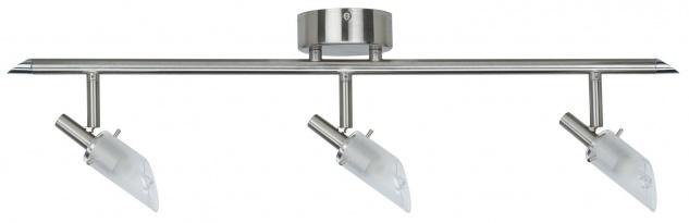 Nice Price 3659 Nice Price Spotlights C Stange 3x40W G9 Nickel satiniert/Satin 230V Metall/Glas