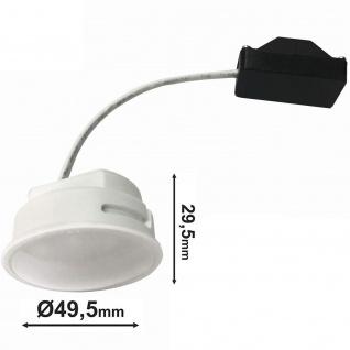 LED Modul Leuchtmittel Satiniert für Einbaustrahler 5W Verbrauch 4000K Warmweiss 230V 400Lumen ersetzt 40W MR16 geringe Einbautiefe