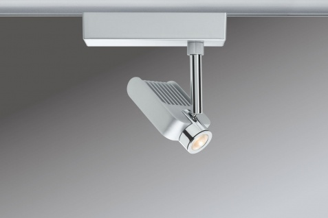 Paulmann URail Schienensystem Light&Easy Spot Vision 1x10W Chrom matt/Chrom 230V Metall