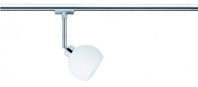 951.90 Paulmann U-Rail Einzelteile URail System LED Spot Wolbi 1x3, 5W GZ10 230V Chrom/Opal Metall/Glas