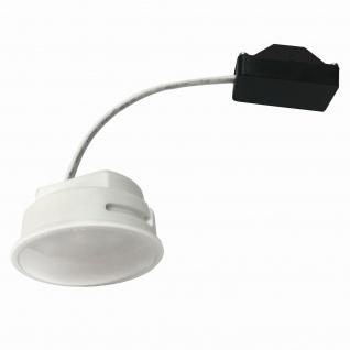 10x LED Einbauleuchten Set Chrom 5, 5W 3000K 230V Modul ultra flache Einbautiefe 35mm - Vorschau 3