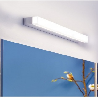 WallCeiling Linea 80 IP44 15W LED 4000K Chrom Satin 230V Alu Kunststoff