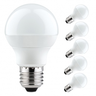 5er-Pack 282.31 Paulmann E27 Fassung LED Globe 60 7W E27 230V 2700K