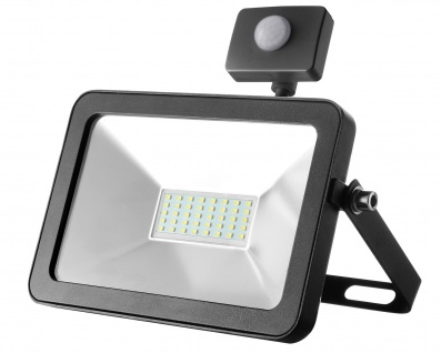 LED Strahler 20W 6000K Tageslicht 230V 1900lm Schwarz