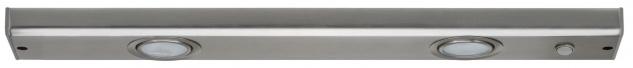 Paulmann 984.86 Function Flatline Unterbauleuchte 2x20W G4 Eisen gebürstet 230V Metall/Glas