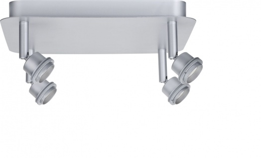 Paulmann Spotlights DecoSystems Rondell 4x3W Chrom-matt 230V/12V Metall