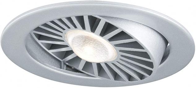 Paulmann 925.11 Premium Einbauleuchte Set Turbo LED schwenkbar 30° 1x13W 230V/700mA 97mm Chrom matt/Alu