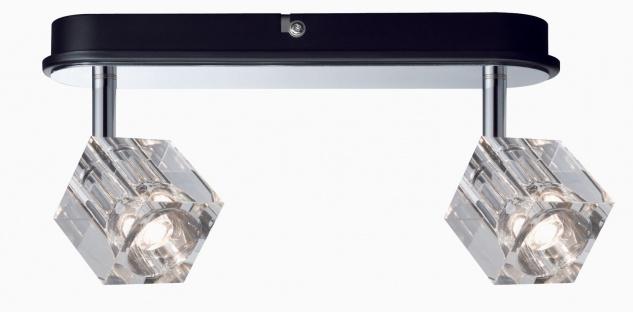 Paulmann 601.67 Spotlights IceCube LED Balken 2x3W Chrom 230V Metall/Glas
