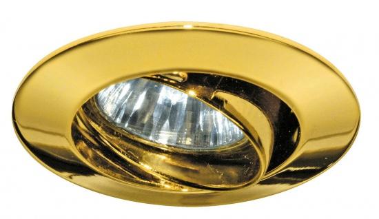 Paulmann Premium Einbauleuchte schwenkbar max.35W 12V GU4 35mm Gold/Alu Zink