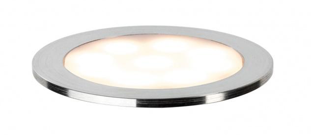 Paulmann 938.30 Special Einbauleuchte Set Allround rund IP67 LED 2700K 3x0, 7W 3, 6VA 230/12V 45mm satiniert/Kunststoff/Edelstahl