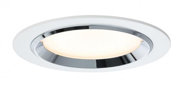 Paulmann Premium Einbauleuchte Set Dot rund LED 3x8W 36VA 230V/700mA 150mm Weiß/Chrom Alu