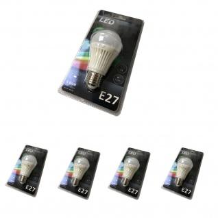 4er Set Leuchten Direkt LED Leuchtmittel E27 6 W Warmweiß 3000 Kelvin 420 Lumen 08121.4