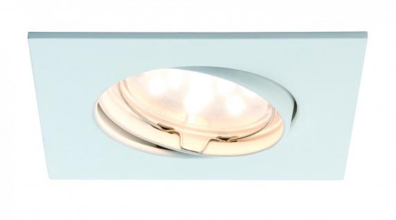 Paulmann Premium Einbauleuchte Set Coin klar eckig schwenkbar LED 3x6, 8W 2700K 230V 51mm Weiß matt/Alu Zink