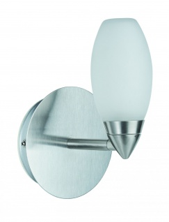 WallCeiling Carina WL IP44 28W G9 Eisen geb/Satin 230V Metall/Glas