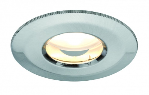 Paulmann Premium Einbauleuchte Set IP65 Coin dimmbar satiniert starr LED 1x7W 230V 51mm Eisen gebürstet/ Alu Zink