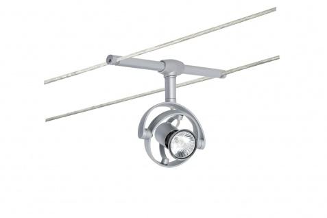 976.75 Paulmann Seil Zubehör Wire System LightEasy Spot Mac² R 1x20W GU4 Chrom matt 12V Kunststoff