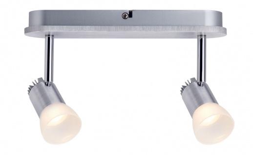 Paulmann 602.20 Spotlight Bariton Balken 2x3W Alu gebürstet 230V Metall