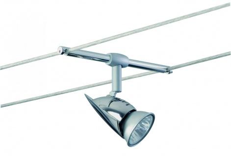 Paulmann Wire System Light&Easy Spot Rom 1x35W GU5, 3 Chrom 12V Metall