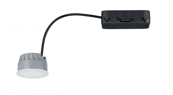 Paulmann Einbauleuchte Coin Leuchtmittel dimmbar LED 1x7W 2700K 230V 51mm Satiniert/Kunststoff