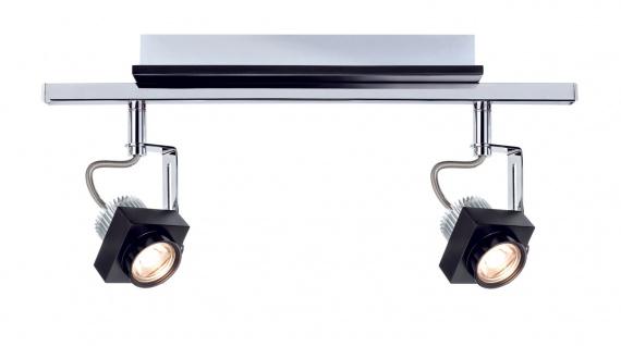 Paulmann 602.57 Spotlight Phase Stange 2x5W Schwarz Chrom 230V Metall