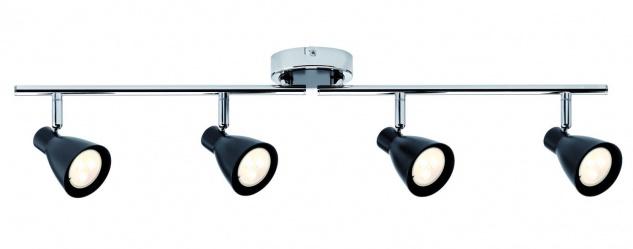 Spotlight 2Simple LED 4x3, 5W GU10 230V Schwarz matt/Chrom Metall