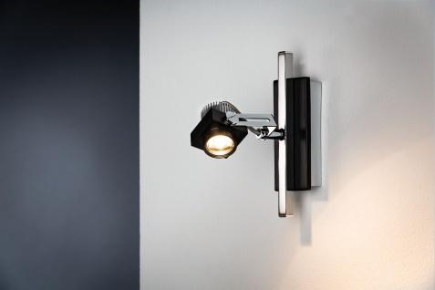 Paulmann 602.56 Spotlight Phase Stange 1x5W Schwarz Chrom 230V Metall