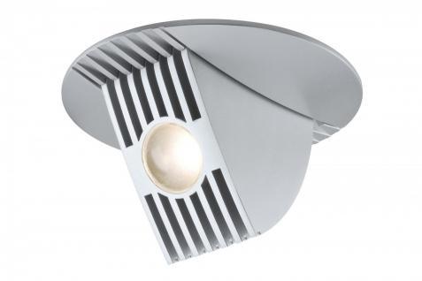 925.54 Paulmann Einbauleuchten Premium EBL Set Bow LED kippbar 65° 1x6, 5W 230V/350mA 100mm Chrom matt/Alu