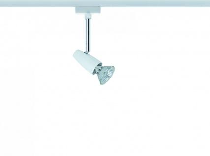 Paulmann 950.08 URail Schienensystem Light&Easy Spot Barelli 1x50W GU10 Weiß 230V Metall