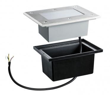 Paulmann 937.96 Special Einbauleuchte Set Boden IP67 LED 2, 5W 2700K 230V 185x136mm Edelstahl/Metall - Vorschau 3
