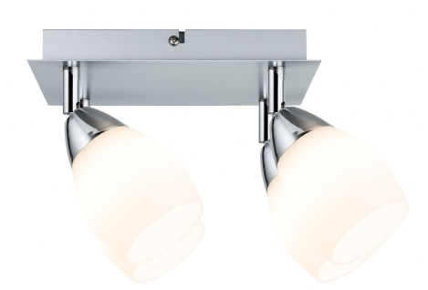 Paulmann Spotlights WolbaLED Balken 4x3W GU10 230V Chrom matt Metall/Glas