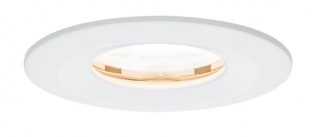 Paulmann 936.25 Premium Einbauleuchte Set Nova rund dimmbar LED IP65 1x7W 230V GU10 51mm Weiß matt/Alu Zink