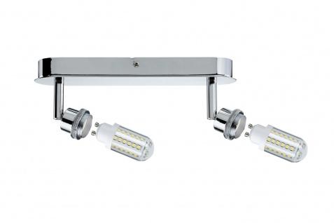 Paulmann Spotlights DecoSystems LED Balken 2x3W GZ10 230V Chrom Metall