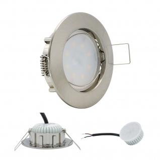 Einbauleuchte 5W 3000K Warmweiss 230V 400lm Eisen gebürstet inkl. austauschbare LED Modul geringe Einbautiefe
