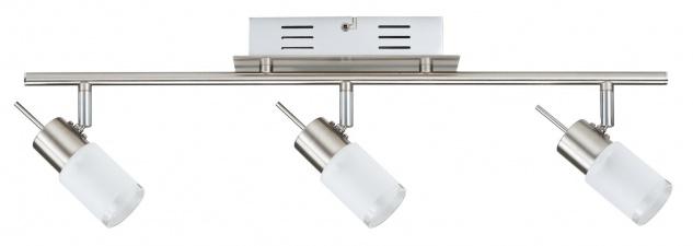 Spotlights ZyLed Balken 3x3W Eisen gebürstet 230V/12V Metall/Glas - Vorschau 2