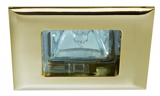 Paulmann 995.74 Premium Einbauleuchte Set Quadro 4x35W 150VA 230/12V GU5, 3 68mm Gold/Alu Zink