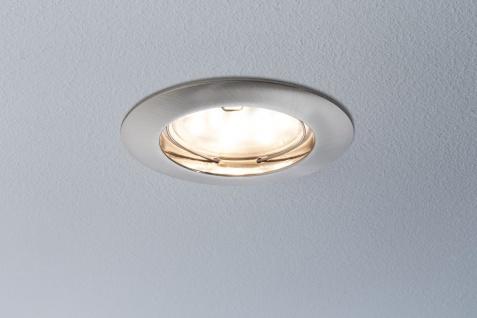 Paulmann Einbauleuchten LED Coin 3er 6er 9er Set 6, 8Watt 3cm Einbautiefe Eisen gebürstet - Vorschau 3
