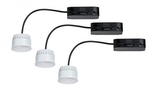 Paulmann 2Easy Einbauleuchte Basis-Set Coin Leuchtmittel satiniert LED 3x6, 8W 2700K 230V 51mm Satiniert/Kunststoff