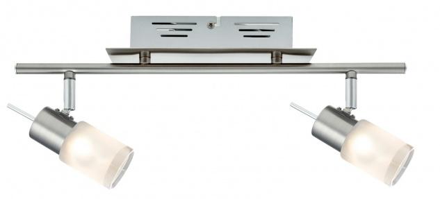 Paulmann Spotlights ZyLed Balken 2x3W Eisen gebürstet 230V/12V Metall/Glas