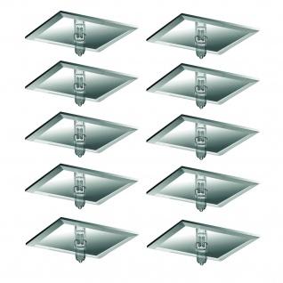 Paulmann Star Einbauleuchte Set quadratisch 10x10W 105VA 230/12V G4 63mm Spiegel Silber/Metall/Glas