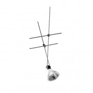 Nice Price Seil Spot Seilsystem 12V 20W inkl. Leuchtmittel Chrom 20watt