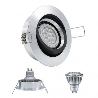 LED Einbauleuchte 96528 Alu GU10 7, 5W 2700K 230V Komplett Set