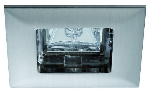 5704 Paulmann Einbauleuchten Premium EBL Quadro max.35W 12V GU5, 3 68mm Eisen gebürstet/Alu Zink