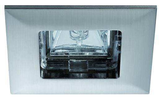 Paulmann Premium Einbauleuchte Quadro max.35W 12V GU5, 3 68mm Eisen gebürstet/Alu Zink