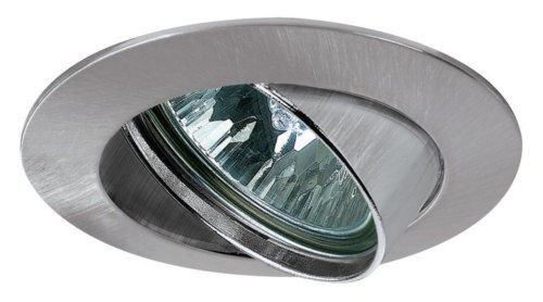 Premium EBL schwenkbar max. 50W 12V GU5, 3 51mm Eisen gebürstet/Alu Zink