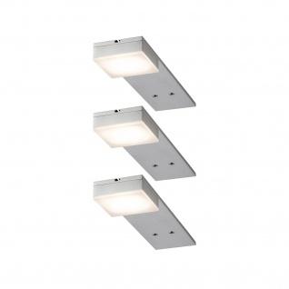 Paulmann Möbel Aufbauleuchte Set Setup lang eckig LED 3x3, 2W 15VA 230V/350mA 200x50mm Eisen gebürstet/Metall