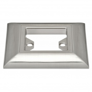 Paulmann 988.60 Profi Aufbauring rostfrei eckig UpDownlight Quadro LED 80mm Eisen gebürstet/Alu