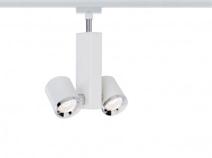 Paulmann URail Schienensystems Spot TecLED II 2x6, 5W Weiß/Chrom 230V Metall